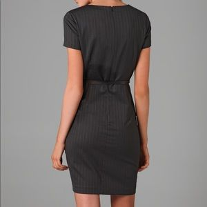 Theory Dark Grey Pinstripe Kabilla Dress